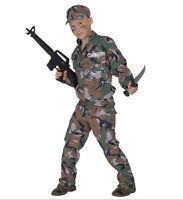 SOLDIER UNIFORM OFFICER ARMY COMMANDO CHILDS FANCY DRESS COSTUME KIDS BOYS S,M,L