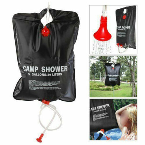 20L Camp Shower Camping Water Portable Sun Solar Heated Compact Outdoor Travels