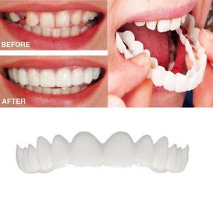 Snap On Upper Teeth Cosmetic Secure Instant Smile Natural Veneer Dental Unisex