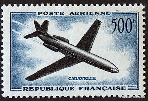 FRANCE-STAMP-TIMBRE-AERIEN-Yt-36-CARAVELLE-500F-1957-NEUF-LUXE-44M55