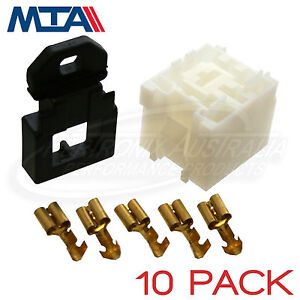 MTA-MINI-RELAY-BASE-HOLDER-4-amp-5-PIN-RELAY-KIT-MADE-IN-ITALY-10-PACK