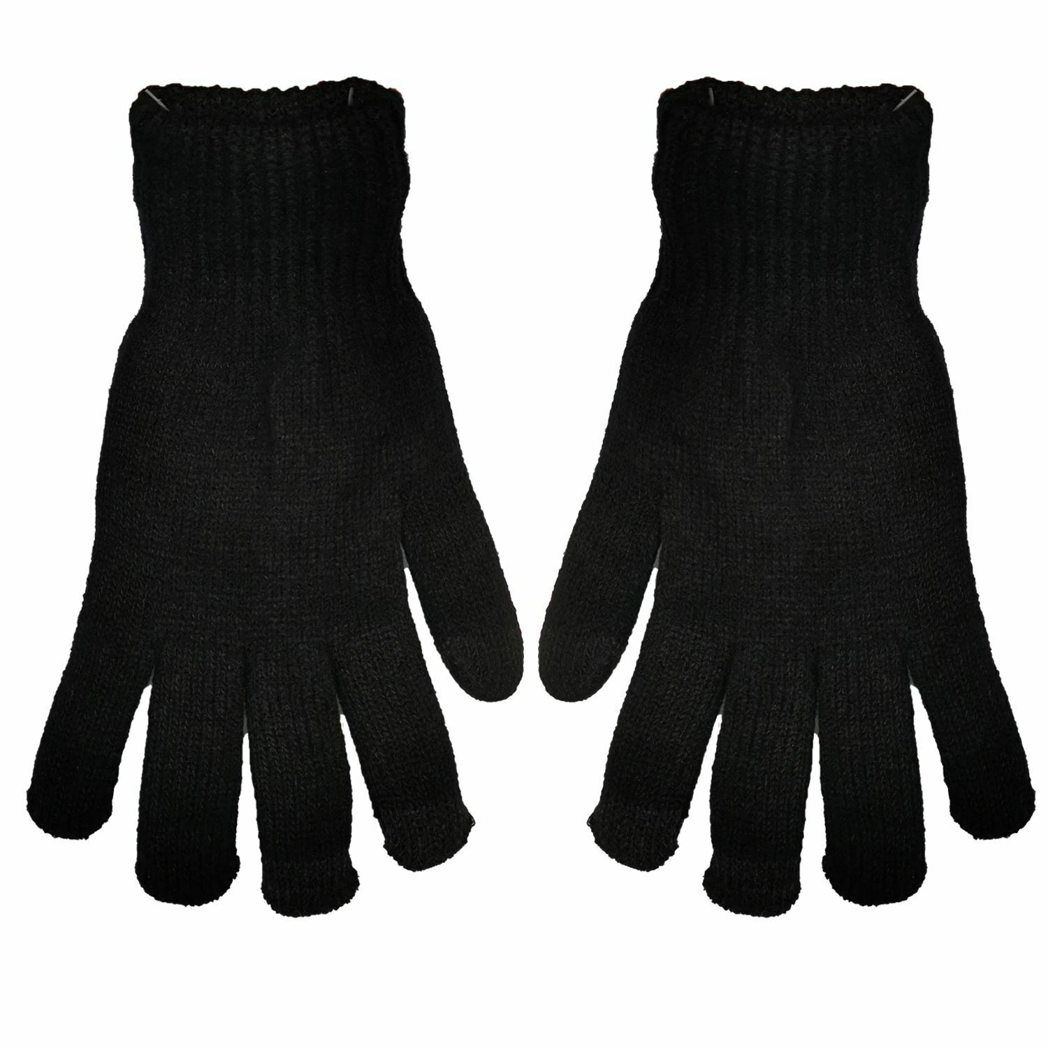 Mens Pro Climate Thermal Winter Knitted Touch Screen Gloves