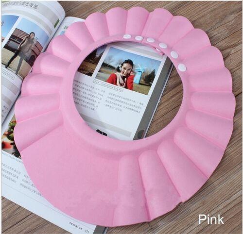 Kids Baby Adjustable Soft Waterproof Shield Shampoo Shower Bath Hat Cap FA