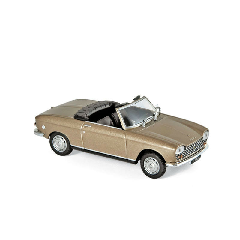 Peugeot 204 Coupe 1967 braun Modellauto 1:43 Norev