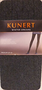 Kunert Medium Size 12 to 14 Patterned Fashion Tights in Mauve 310010