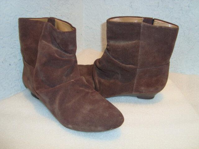 Nine West Damenschuhe NWOB Workbook Braun Leder Ankle Stiefel Schuhes 5.5 MED NEW