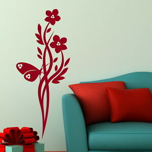 Chinse-Flower-Wall-Sticker-Giant-Wall-Decal-Large-Floral-Wall-Transfers-CH4