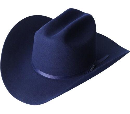 Men/'s Serratelli 6x Amapola Beaver Felt Cowboy Hat Made In USA Cali Style Brim