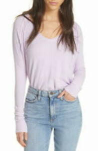 MSRP-68-We-The-Free-By-Free-People-Catalina-V-Neck-Thermal-Top-Purple-Size-Med