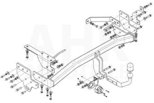 Für Infiniti EX30 Anhängerkupplung starr+ES 13p uni 37 ab 12 Kpl AHK