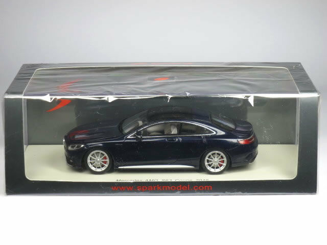 Mercedes Benz AMG S 63 Coupe 2016 dark blu Spark Model   S4918