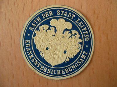 Rath Der Stadt Leipzig Krankenversicherungsamt Attraktive Mode 15323 Siegelmarke