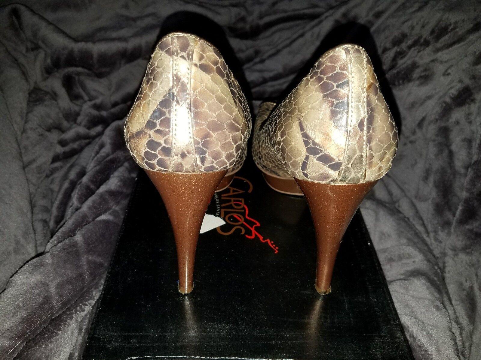 Carlos by Carlos Santana Sexy Peep Toe Platform Platform Platform Pumps - Women's Size 9M, gold b90c64