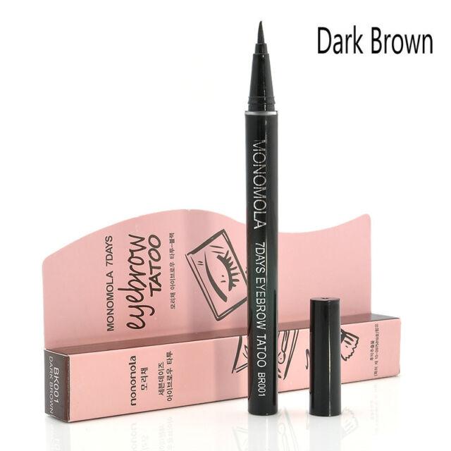 Brown Waterproof 7 Day Eyebrow Tattoo Pen Liner Long Lasting Eye Makeup Cosmetic