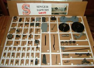 SINGER-144W305-Industrial-Sewing-Machine-Parts-Restore-Simanco-LOT-1