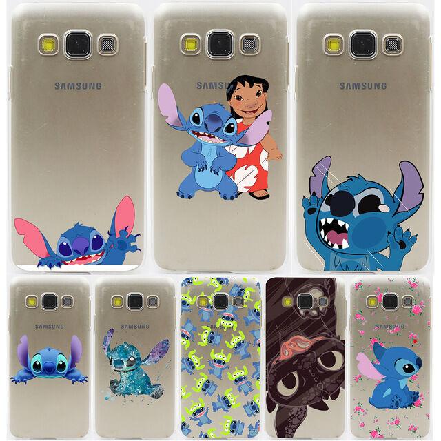 Coque Cartoon Cute Stitch Hard Case All S8 S7 S6 A3 A5 J5 Note