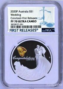 2020-P-AUSTRALIA-Wedding-1oz-SILVER-PROOF-COIN-NGC-PF70-UC-FR