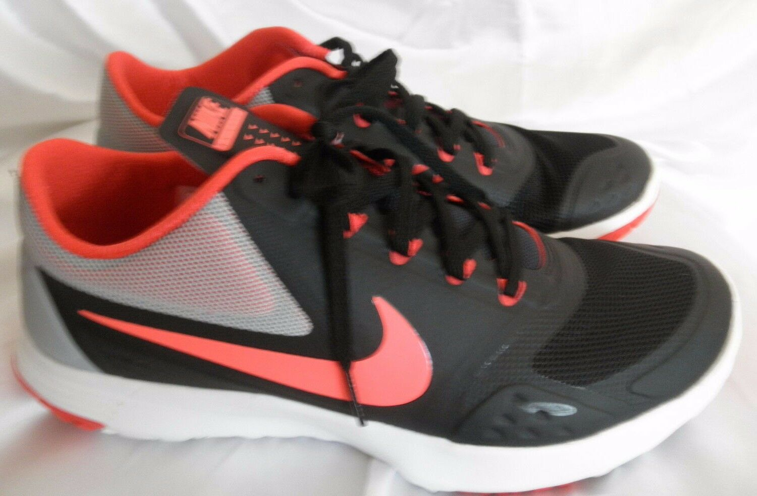 New Nike FS Lite Trainer 2  Fitsole Cushion Support Black Orange  9.5 Gym Shoes