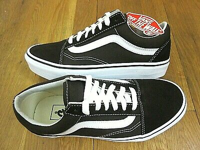 Vans Womens Old Skool Chocolate Torte True White Canvas Suede shoes Size 7.5 NWT 191932806973 | eBay