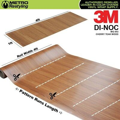 3m Di Noc Cherry Teak Wood Grain Vinyl