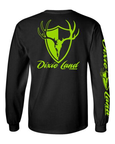 Dixie Land Outdoors Men/'s Long sleeve Deer Mount t shirt Deer Skull compound bow