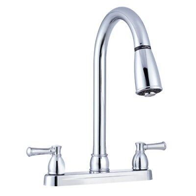 Dura Faucet DF-PK100-CP Non-Metallic Pull-Out Rv Kitchen Faucet Chrome Polished