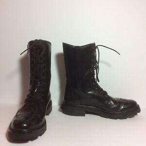Y-3-550-Jones-ll-Combat-Boots-Black-Leather-Sz-5D-UK-Fits-6-5-US-HTF-EUC