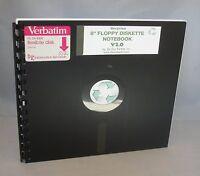 Black Recycled 8 Floppy Diskette Notebooks Great Geek Gift Vintage Disk