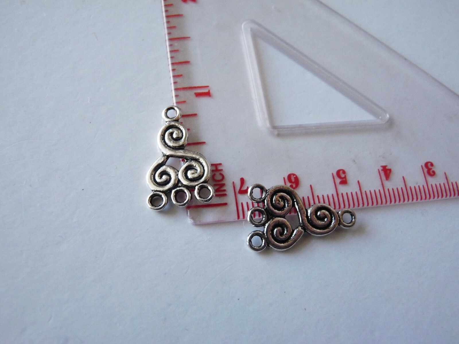 6x Chandelier 3 Hole Earring Finding 3 Strand Connector Necklace 2 Sided C438