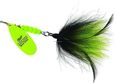 New Mepps Magnum Musky Killer Lure 1 1//4oz Hot Chartreuse Black /& Chartreuse