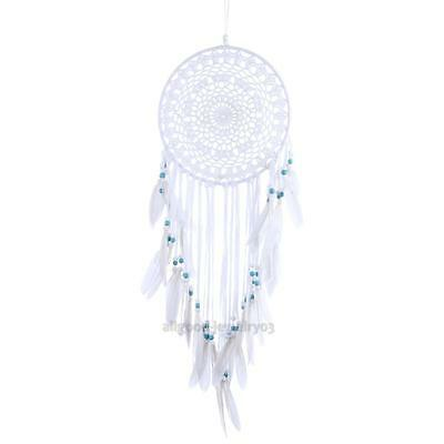 White Pattern Turquoise Dream Catcher Wall Hanging Home Car Decor Craft Gift