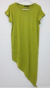 faae1eece23b9 Boohoo Women's Maya Asymmetric T-Shirt Midi Dress US 6 Chartreuse ...