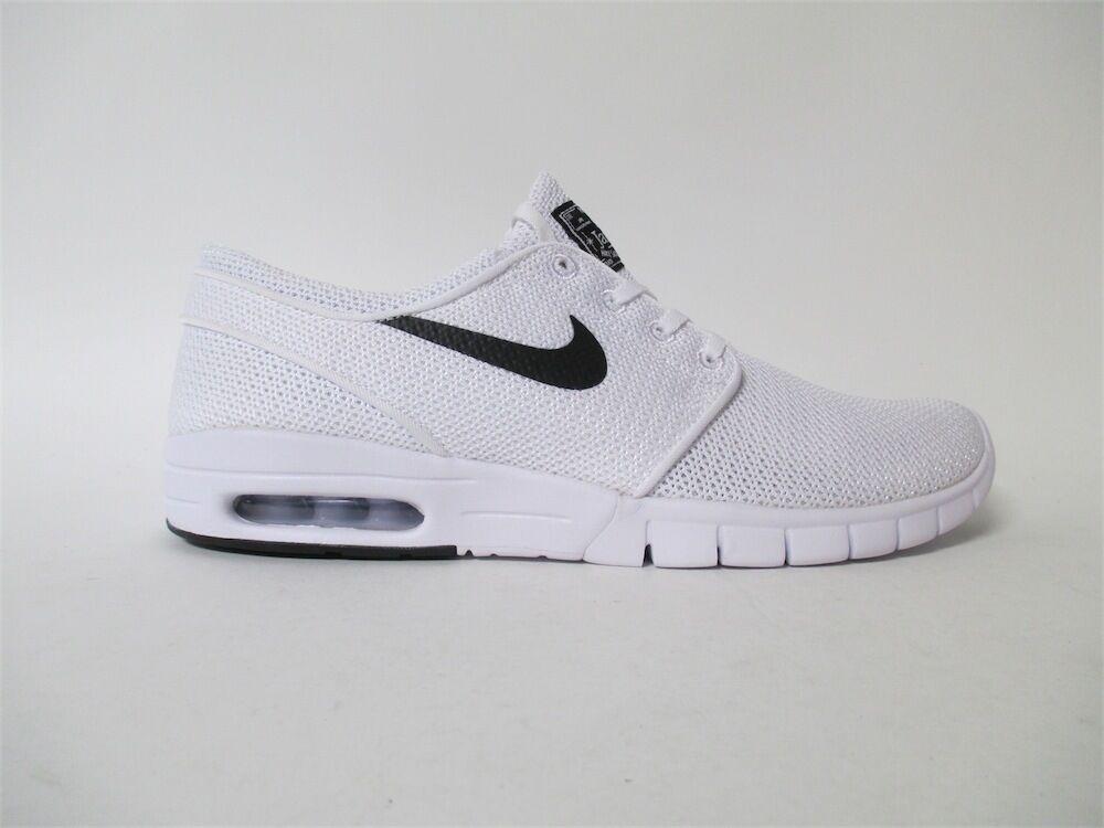 Nike SB Stefan Janoski Max White Black Sz 8 631303-100
