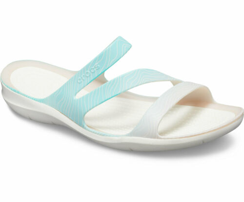 Ladies Womens Crocs Swiftwater Sandal Slip on Beach Flip Flop Casual Strappy New