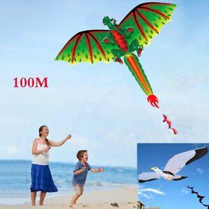 3D-Kite-Outdoor-Fun-Toy-Family-Outdoor-Sports-Kids-Children-Toys-New-100M