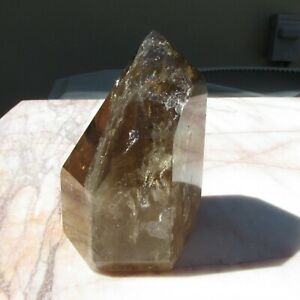 Natural Kundalini Quartz Citrine Point from African Congo 1.8 pounds