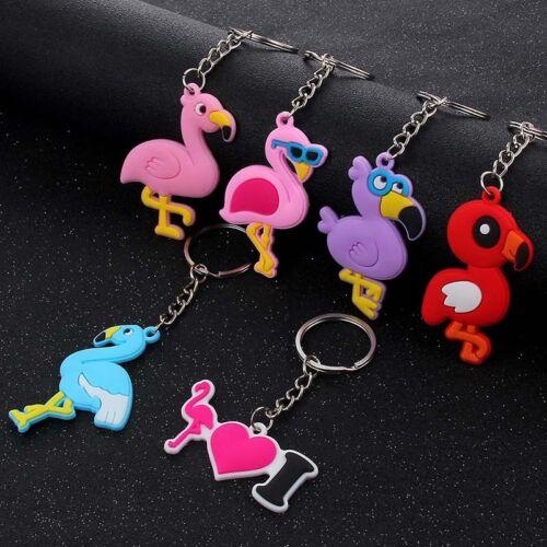 1Pcs Red//Blue Flamingo Pendant Keychain Jewelry Alloy Keyring Handbag Jewelry