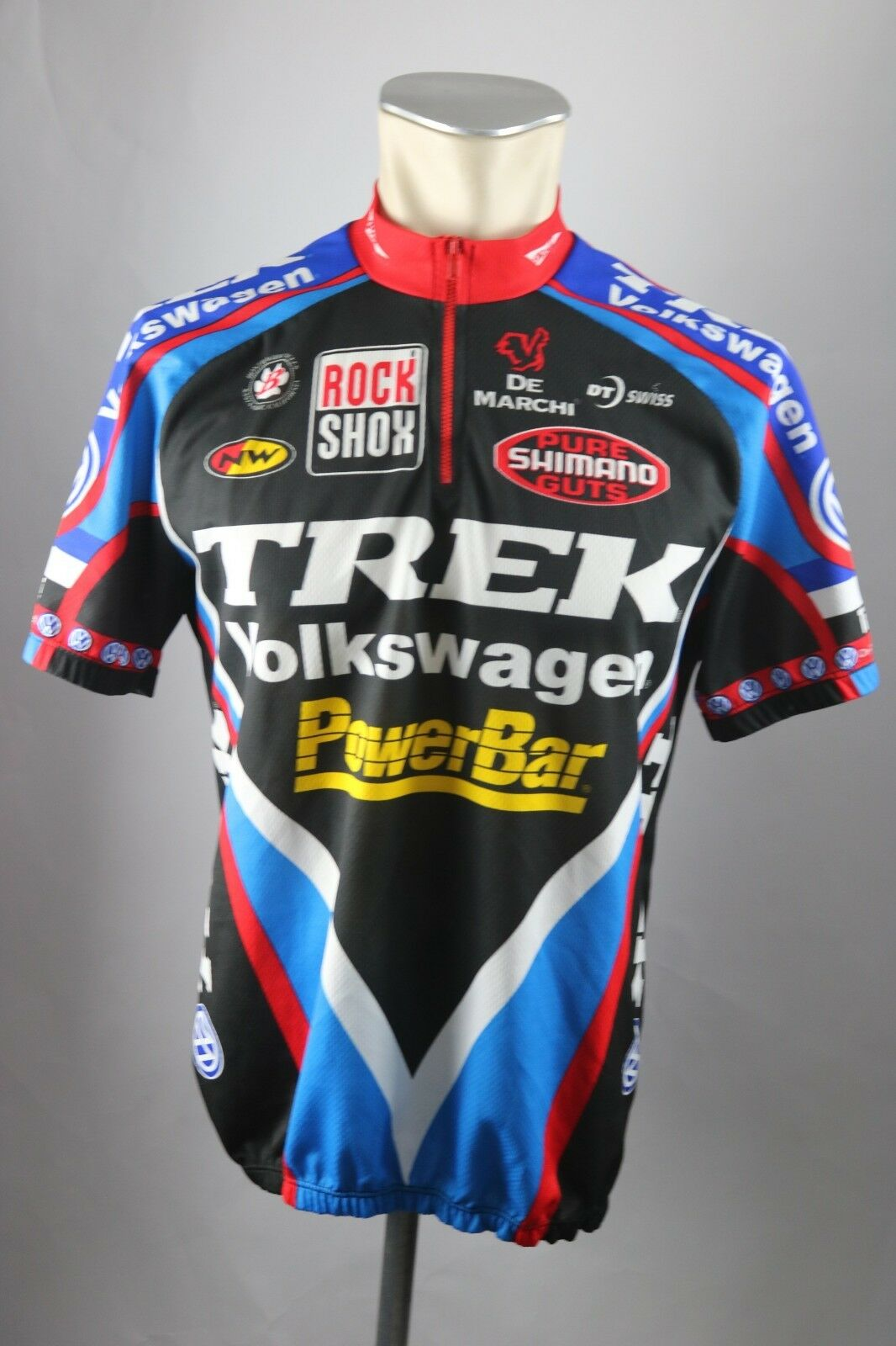 Trek VOLKSWAGEN Powerbar  Cycling Jersey CA L XL BW 56cm Bike Cycling Jersey s5  sale online save 70%
