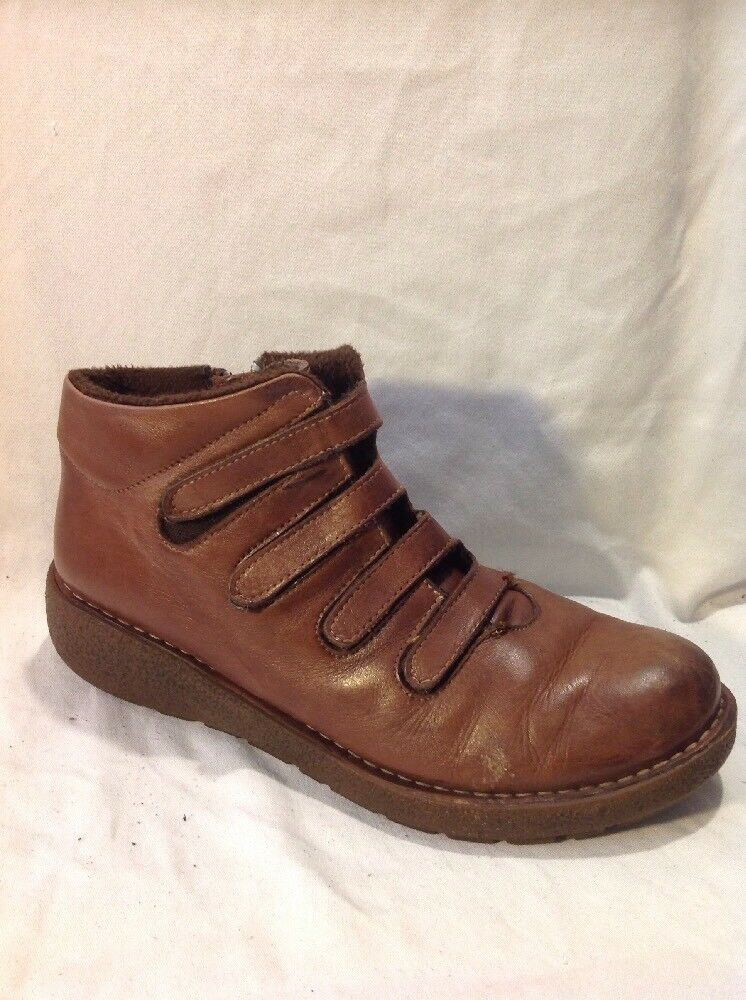 Karyoka Brown Ankle Leather Boots Size 40