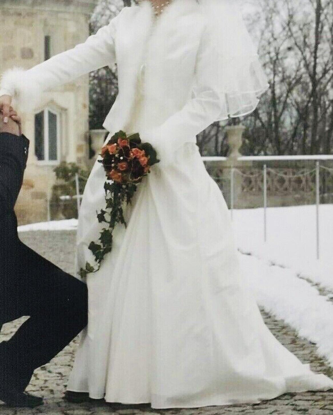 ❤️ Luxus schön Brautkleid Jacke Bolero Marke Weise 36 S Hochzeit