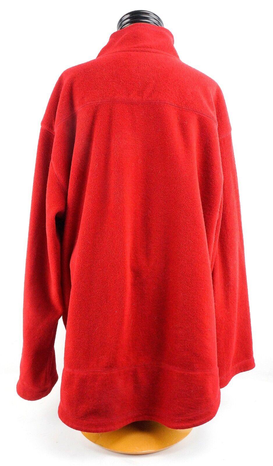 Uomo Ralph Lauren Jeans Half Zip Zip Zip Fleece Pull Over Large rosso 7d8002