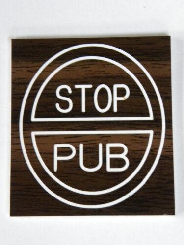 """plaque de boite aux lettres  /""""STOP PUB/"""" noyer noir"""