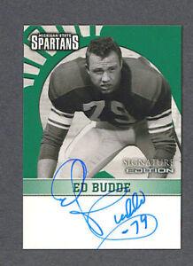 Ed Budde signed MSU 2003 TK Legacy football card