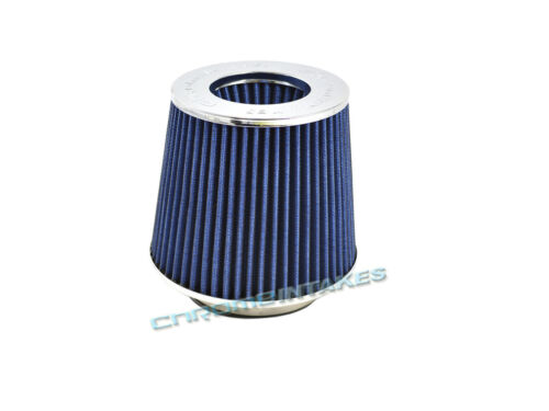 """BLUE UNIVERSAL 3.5/"""" 89mm FLANGE AIR FILTER FOR INFINITI SHORT//COLD AIR INTAKE"""