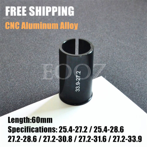 1 X Aluminum Alloy Bike Seat Post Shim Reducer 25.4mm to 27.2 28.6mm