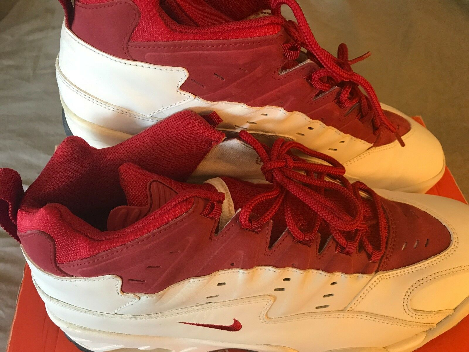 Nike Air Flare Athletic Sneaker Red and White Men's Size 13