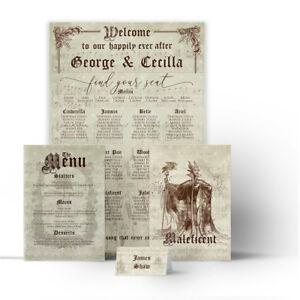 Segnaposto Matrimonio Vintage.Vintage Disney Matrimonio Posti A Sedere Piano Tavola Grafico