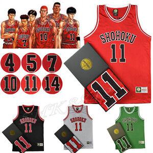 b49d3c319c8 Image is loading Anime-Cosplay-Slam-Dunk-Shohoku-Basketball-Replica-Jersey-
