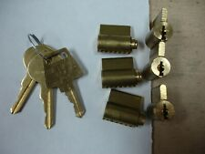 Lot Of 6 American Lock Padlock Cylinders With R7 Restricted Keyway