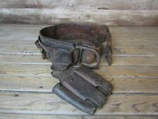 Vintage Wm Bashlin Leather Lineman Utility Worker Electrician Belt And Pouch